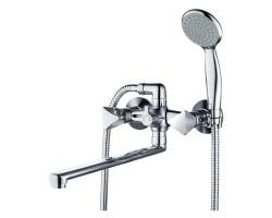 Смеситель для ванны и душа Gross Aqua Trio с длинным изливом 350 мм