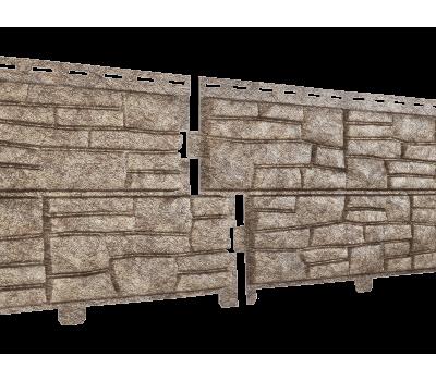 Фасадная панель Стоун хаус Сланец Бурый