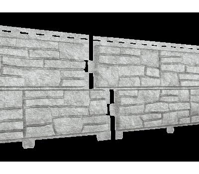 Фасадная панель Стоун хаус Сланец Светло-серый