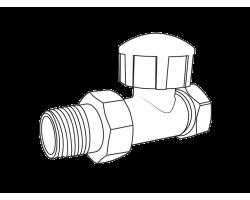 Вентиль Royal Thermo термостатический прямой для радиатора 3/4
