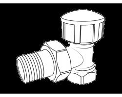 Вентиль Royal Thermo термостатический угловой для радиатора 3/4