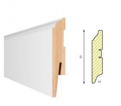 Плинтус напольный белый Aberhof Art 802