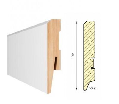 Плинтус напольный белый Aberhof Art 1001