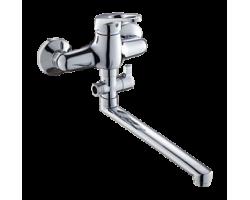 Смеситель для ванны и душа Gross Aqua Base с длинным изливом 350 мм