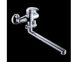 Смеситель для ванны и душа Gross Aqua Basic с длинным изливом 350 мм