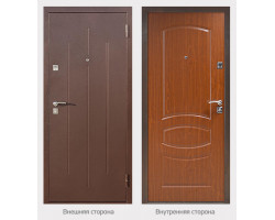 Входная металлическая дверь Стройгост 5 Итальянский орех, Миланский орех, Венге
