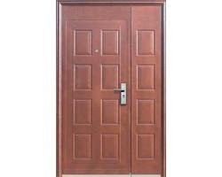 Входная двустворчатая металлическая дверь Kaiser Молоток крупный